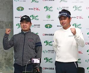選手会主催の新規大会に向けて、強い思いを明かした選手会長の時松隆光(左)と選手会副会長の池田勇太