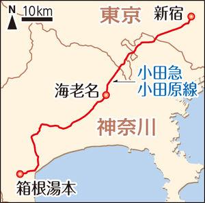 小田急沿線「新宿~箱根湯本」間