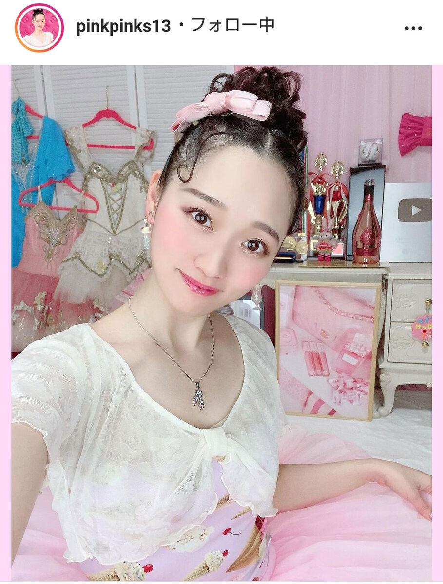 松浦景子のインスタグラム(@pinkpinks13)より