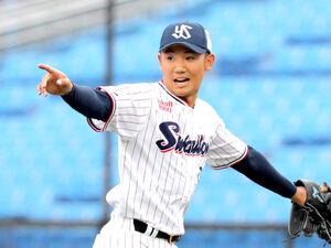 6回1死一塁、サンズを三併殺に打ち取った奥川恭伸(カメラ・清水 武)