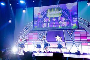 オンラインでデビューシングルの発売記念イベントを行ったLiella!(C)プロジェクトラブライブ!  スーパースター!!(C)2021 プロジェクトラブライブ! スーパースター!!