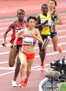 4分9秒10で優勝した田中希実(カメラ・竜田 卓)