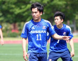 Jエリートリーグ浦和戦でゴールを決めた横浜FMのFW樺山諒乃介