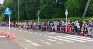 2019年の関東学生対校陸上ハーフマラソン。箱根駅伝でおなじみの学生ランナーを応援するため、多くのファンが詰めかけた