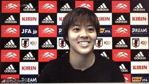 オンライン取材に応じたなでしこジャパンのFW小林里歌子
