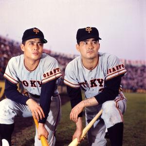 現役時代の王貞治氏(左)と長嶋茂雄氏(1965年撮影)