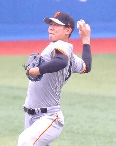 キャッチボールで調整する畠世周(カメラ・中島 傑)
