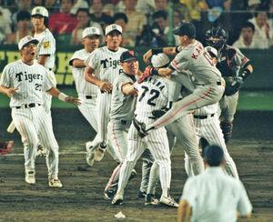 1998年8月2日、甲子園での乱闘