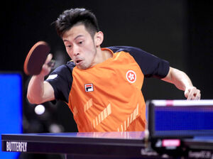 琉球が獲得に乗り出している香港代表・黄鎮廷(国際卓球連盟提供)
