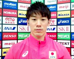 16日からチームに合流したバレーボール男子日本代表の石川祐希