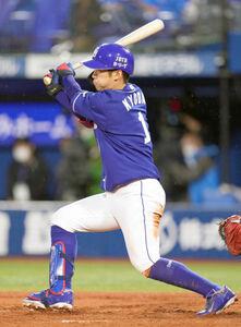 2回2死二、三塁、京田陽太が右前に2点適時打