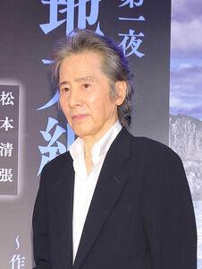 松本清張のスペシャルドラマの会見に出席した田村正和さん(2016年3月)