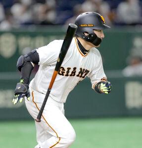 6回1死三塁、右前適時打を放つ丸佳浩(カメラ・中島 傑)