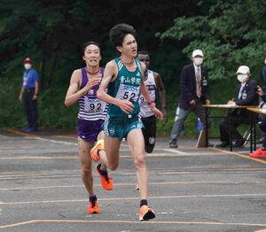 関東ICハーフマラソンで優勝した青学大・西久保