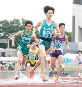 関東インカレ2部3000メートル障害2連覇を目指す青学大・小原