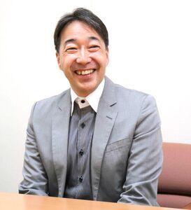 52歳の時、自ら希望してアナウンス室から内部監査部への異動の道を選んだ境鶴丸さん(カメラ・中村 健吾)
