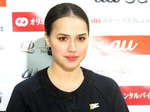 日露友好の特別プログラムに参加したアリーナ・ザギトワ選手(カメラ・増村花梨)