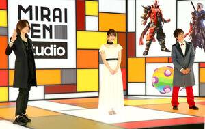 「MIRAIKEN studio」オープニングセレモニーに出席した(左から)SUGIZO、金澤朋子、ヒャダイン