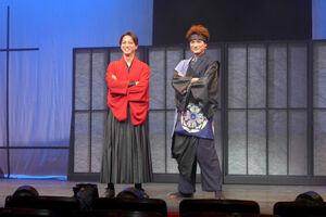 主演舞台「流星セブン~暁の操り人~」の取材会に出席した松崎祐介(右)と寺西拓人