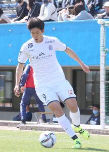 鳥取戦で3点目を決めた富山FW大野耀平(写真は3月14日のYS横浜戦)