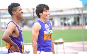 村竹ラシッド(左)と泉谷駿介