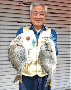 キビレ19尾の大釣りに満足げな廣瀬さん
