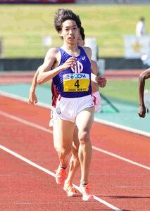 1部5000メートルで日本人トップの2位に入った三浦