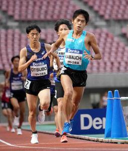 男子5000メートル第1組で3着だった川内優輝