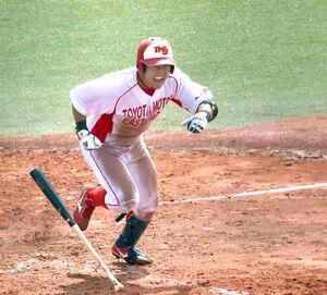 5回2死満塁で先制の左前適時打を放ち、叫びながら走り出すトヨタ自動車東日本・瀬戸