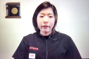 オンライン取材に応じた東京パラリンピック陸上代表内定の村岡桃佳