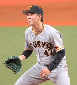 1回1死満塁、杉本裕太郎に左翼線2点適時二塁打を浴びた高橋優貴(カメラ・相川 和寛)