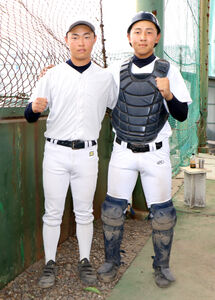 4番を張る兄の隼(左)と正捕手の弟・昊