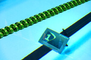プール内の「ラップカウンター」はリオ五輪で導入