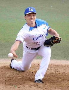 神戸三田ブレイバーズの先発・坂本工宜(登録名は工宜)は3回5失点だった
