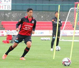 第1戦に続く得点で貢献を狙う札幌MF青木