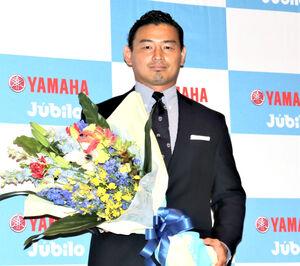 引退会見を行ったラグビー元日本代表の五郎丸歩氏