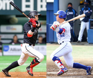加藤翔平(左)と加藤匠馬