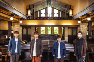 映画主題歌「エンパシー」を歌うASIAN KUNG―FU GENERATIONの(左から)喜多建介、伊地知潔、後藤正文、山田貴洋