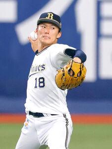 京セラドームでキャッチボールを行うオリックス・山本由伸