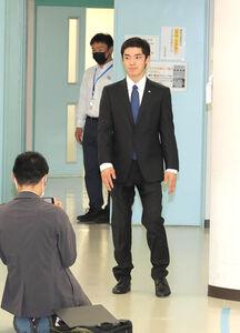 現役引退を報告した白井健三(カメラ・小泉 洋樹)