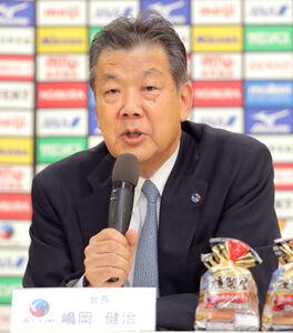 日本バレーボール協会・嶋岡健治会長