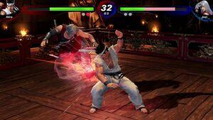 『バーチャファイターeスポーツ』のゲーム画面