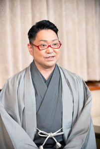 オンライン取材会を行った尾上松緑(C)松竹