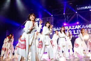 昨年10月に改名後初めての有観客ライブを開催した櫻坂46