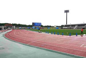 全日本大学駅伝関東選考会が開催される相模原ギオンスタジアム。7枠の出場権を争う