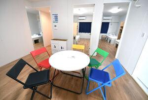 東京五輪・パラリンピックの選手村居住棟の部屋
