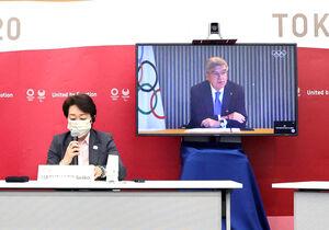 東京五輪・パラリンピックに向けた5者協議に臨んだ大会組織委員会の橋本聖子会長(代表撮影)
