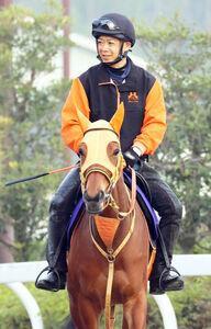高野調教師はレイパパレに自ら騎乗して状態面を把握する