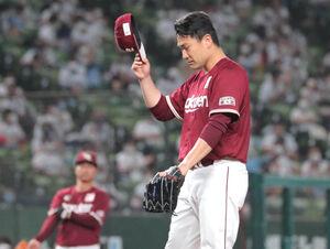1回1死一塁、打者・栗山巧のときボークで進塁を許した田中将大
