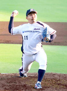 日本製鉄広畑の川瀬航作は5安打1四球で完封勝利
